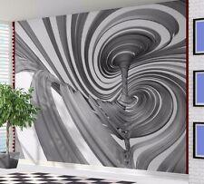 Cool 3D optical illusion swirl tornado wallpaper wall mural (55701609)