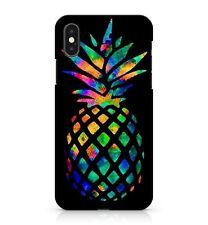 verre souillé TROPICAL ANANAS coloré exotique Rainbow Fruit étui de téléphone