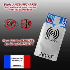 Protection carte bancaire sans contact bleu visa  RFID NFC  étui ANTI-PIRATAGE