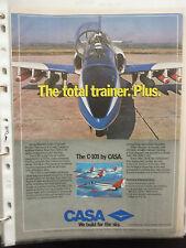 11/1984 PUB AVION CASA C-101 TRAINER COMBAT SPANISH AIRCRAFT ORIGINAL AD