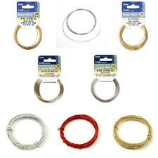 Darice Craft & Jewellery Designer Wire paillettes Copper Brass & Memory Wire Craft