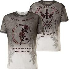 AFFLICTION T-Shirt Black Heart Weiß/Grau T-Shirts