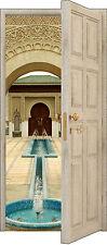 Adhesivo puerta trampantojo l'ojo decoración Fontaine oriental ref 844 3 Tamaños