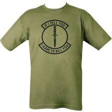 Olive Men's Funny Slogan Novelty Joke Gift T-Shirt If I Tell You Dagger Logo