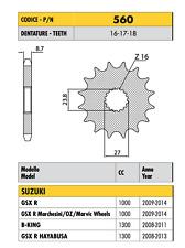 560 - PIGNONE PASSO 530 SUZUKI GSX R Marchesini/OZ/Marvic Wheels 1000 2009-2015