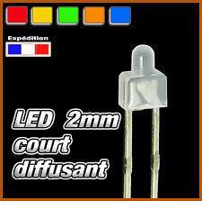 dispo 10 25 ou 100pcs green diffused 338V# LED 2mm court vert diffusant