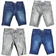 "Men's New Ex Next Blue and Grey Denim Shorts Waist Sizes 28"" - 40"" RRP £25"