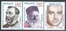 Monaco 2001 Mi 2566-68 ** Nobel Czerwony Krzyż Red Cross Rote Kreuz Croix-Rouge