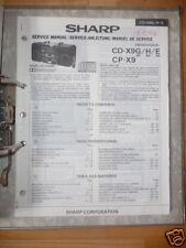 Service-Manual Sharp CD-X9G/H/E,CP-X9   HiFi,ORIGINAL