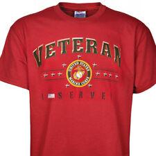 United States Marines Veteran I Served Tee new T'shirt Red Marines