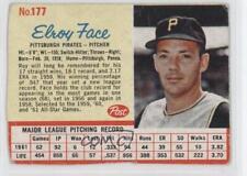 1962 Post #177 Roy Face Pittsburgh Pirates Baseball Card
