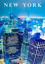 NEW YORK GRATTACIELI CITY TIME SQUARE AMERICA GRANDE MELA NEW A3 A4 POSTER