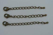 Bronce Antiguo lágrima extender cadena con langosta broche