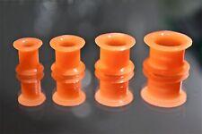 Tunnel Silikone Plug Flesh Piercing Double Flared Ohr Ohrschmuck orange