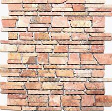 Mosaik Marmor Terracotta versetzt Wand Bad Sauna Küche WC| 40-0220_f | 10 Matten
