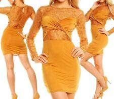 SeXy Miss Damen Mini Kleid Party Dress Spitze Schleife S 34 M 36 L 38 pink Neu