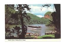 KAUAI HI Wailua River Smith's Boat Fern Grotto Postcard