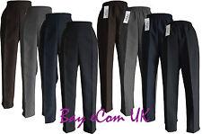 Nouvelle femme de la moitié des femmes élastique pantalon coupe droite pantalon taille uk 12 à 24