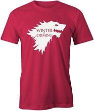 L'inverno sta arrivando T-shirt game of thrones ha preso da uomo TOP TEE Jon Snow