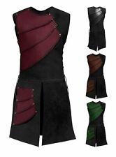 Adult Medieval Archer Larp Knight Hero Costume Warrior Black Armor Roman Soldier