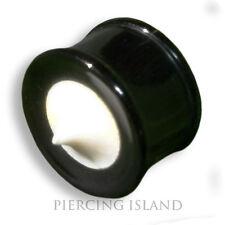 6mm - 14mm CORNO Bone ossa chirurgico Flesh Tunnel Ear Plug Orecchio Piercing 181