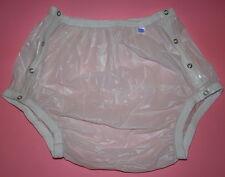 PVC Incontinence knöpfer-windelhose Rubber Bottoms White