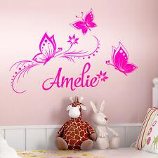 Wandtattoo Wandsticker Wandaufkleber Kinderzimmer Wunschname Schmetterling W1349