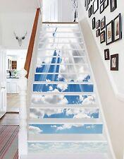 3D Clouds Sunlight Stair Risers Decoration Photo Mural Vinyl Decal Wallpaper CA