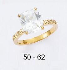 Dolly-Bijoux Alliance Solitaire Diamant 8mm Multifacette Plaqué Or 18K 5Microns