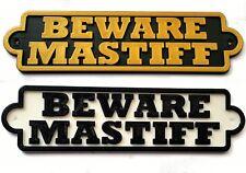 Beware Bull Mastiff 3D Dog Plaque- House Door Garden Gate Sign L