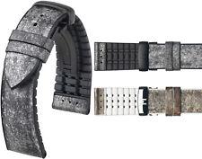 Uhrenarmband HIRSCH Stone Schiefer u. Kautschuk Kern vegan Kautschukband Uhrband