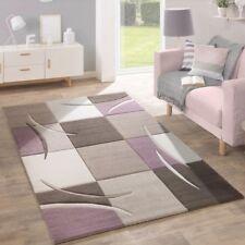 Living Room Rug Light Purple Beige Brown Modern Rug Checked Carpet Small Large