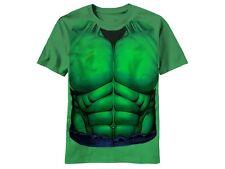 THE HULK SMASH COSTUME SUPER HERO BRUCE BANNER KELLY GREEN MARVEL T SHIRT S-2XL