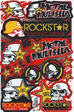 New Rockstar Energy Motocross ATV Racing Graphic stickers/decals sheet. (st181)