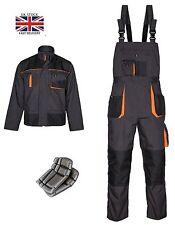 Tute con bretelle (salopettes) Lavoro Pantaloni tuta Pants Knee Pad Multi Tasca Grigio & Arancione