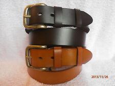"Men's Brown Tan Genuine Full Grain Leather Belt by Ollys 1.5"" style Richmond"