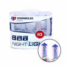 H3 Luz De Noche Luz De Niebla bombillas - 12v Xenon +90% blancos más brillantes Ap V8