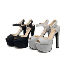 Women's Peep Toes High Heels Ankle Straps Shoes Platform Sandals AU Size S047