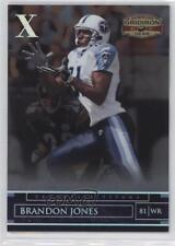2007 Donruss Gridiron Gear Silver Xs #88 Brandon Jones Tennessee Titans Card