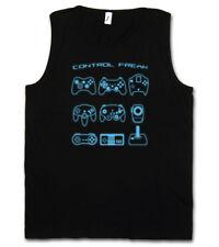 CONTROL FREAK I TANK TOP Video Game Controller NES Evolution Joystick Gamepad