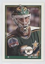 1991-92 O-Pee-Chee #237 Jon Casey Minnesota North Stars Hockey Card
