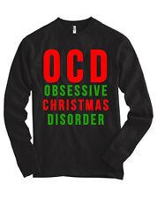 OCD Obsessive Christmas Disorder Bella + Canvas Long Sleeve Shirt Holiday Tee