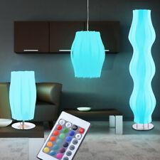 Design LED RGB Farbwechsler Pendel Tisch Büro Steh Boden Lampe Fernbedienung