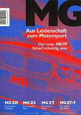 2002 MG German Original Sales Brochure Catalog ZR ZS ZT ZT-T TF