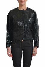 Viktor & Rolf Women's Wool Coated  Black Cropped Jacket Size XS S M L