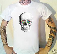 Calavera Camiseta Wtf! Psychedelic Ojos. Clubbing Goth Punk La Muerte