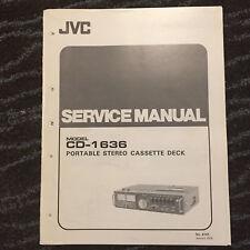 Original Service Manual for JVC Cassette Tape Decks  ~ Select One