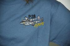 P-38 Lightning Embroidered Denim T-shirt Proceeds go FE's Build A Plane program