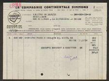 """SAINT-OUEN (93) USINE de MATELAS """"SIMMONS"""" 1935"""