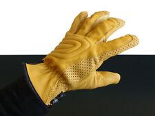 CAFE-RACER Sommer-HANDSCHUHE/Summer gloves/Gants, LEDER/leather, gelb